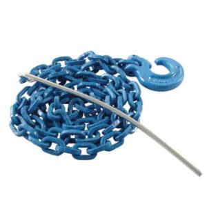 Chokerkette vierkant blau  8mm/3m G 10