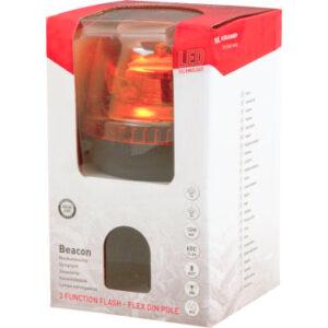 LED-Rundumleuchte, DIN, Flexible Rohrstutzenbefestigung