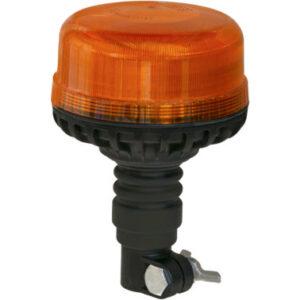 LED-Rundumleuchte flach, DIN, Flexible Rohrstutzenbefestigung