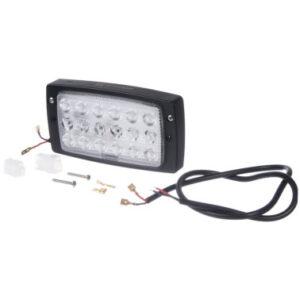 LED-Einbauscheinwerfer 27W 3375lm, rechteckig, Kabinendach