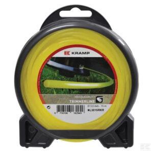Mähfaden Ø 2.4mm 15m rund gelb