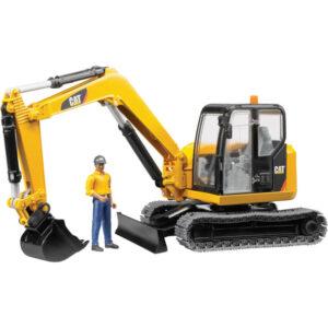 CAT Minibagger + Bauarbeiter